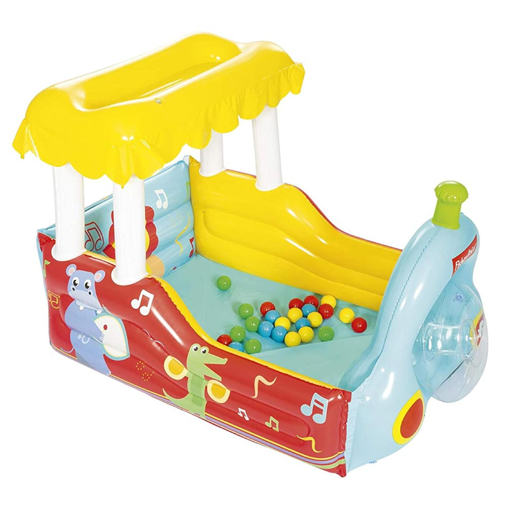 Brinquedo Trenzinho Inflável com 25 Bolinhas Fisher Price