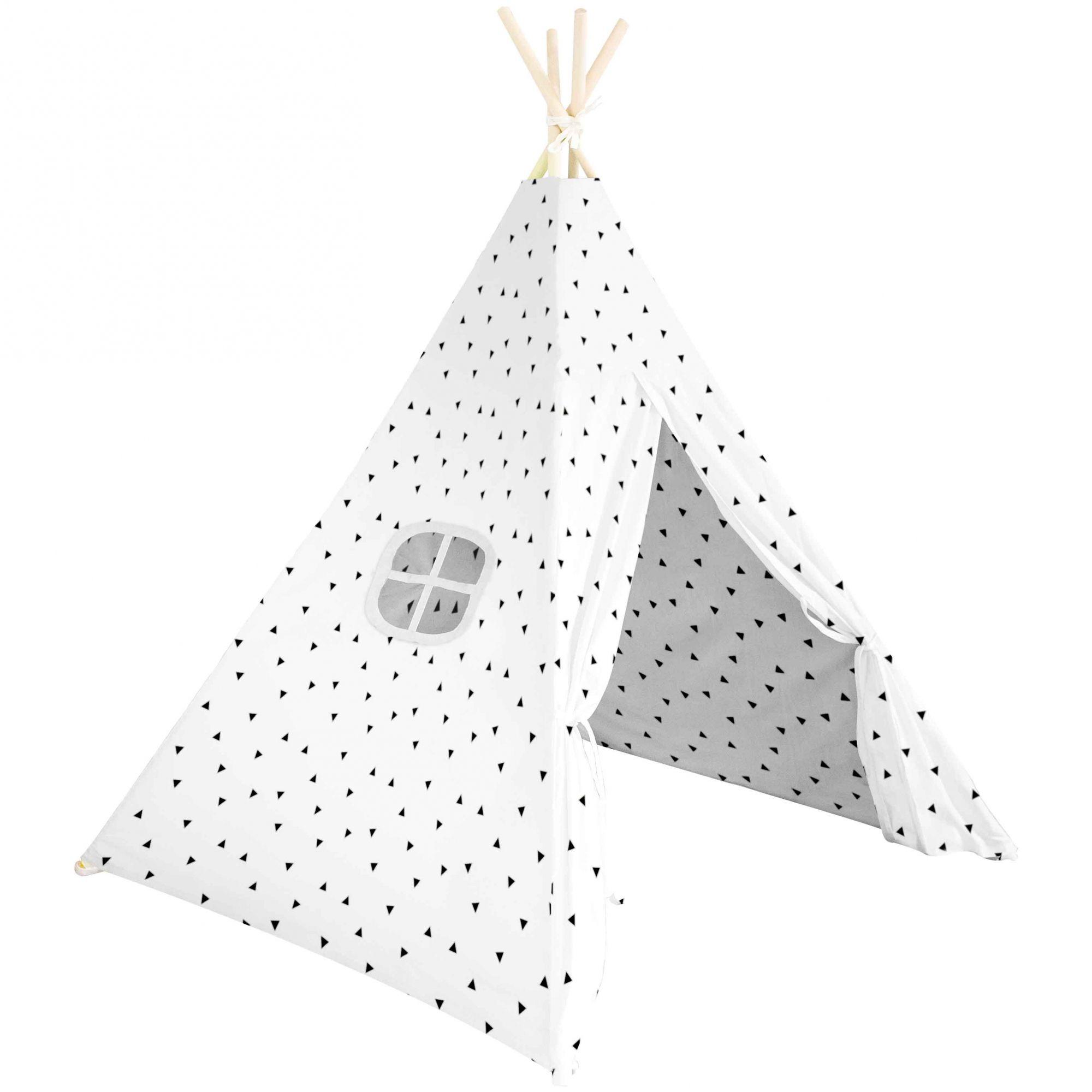 Cabana Triangular 150cm - Branca C/ desenhos Geométricos - Buba 6687