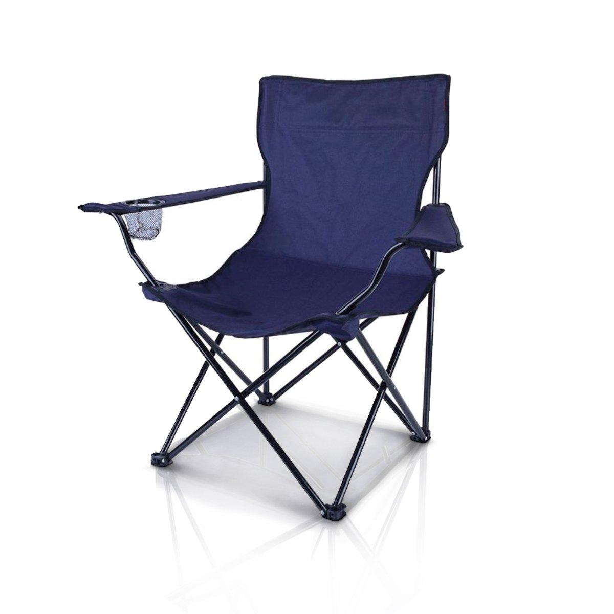 Cadeira Camping Dobrável Com Apoio de Braço e Porta Copos Importway