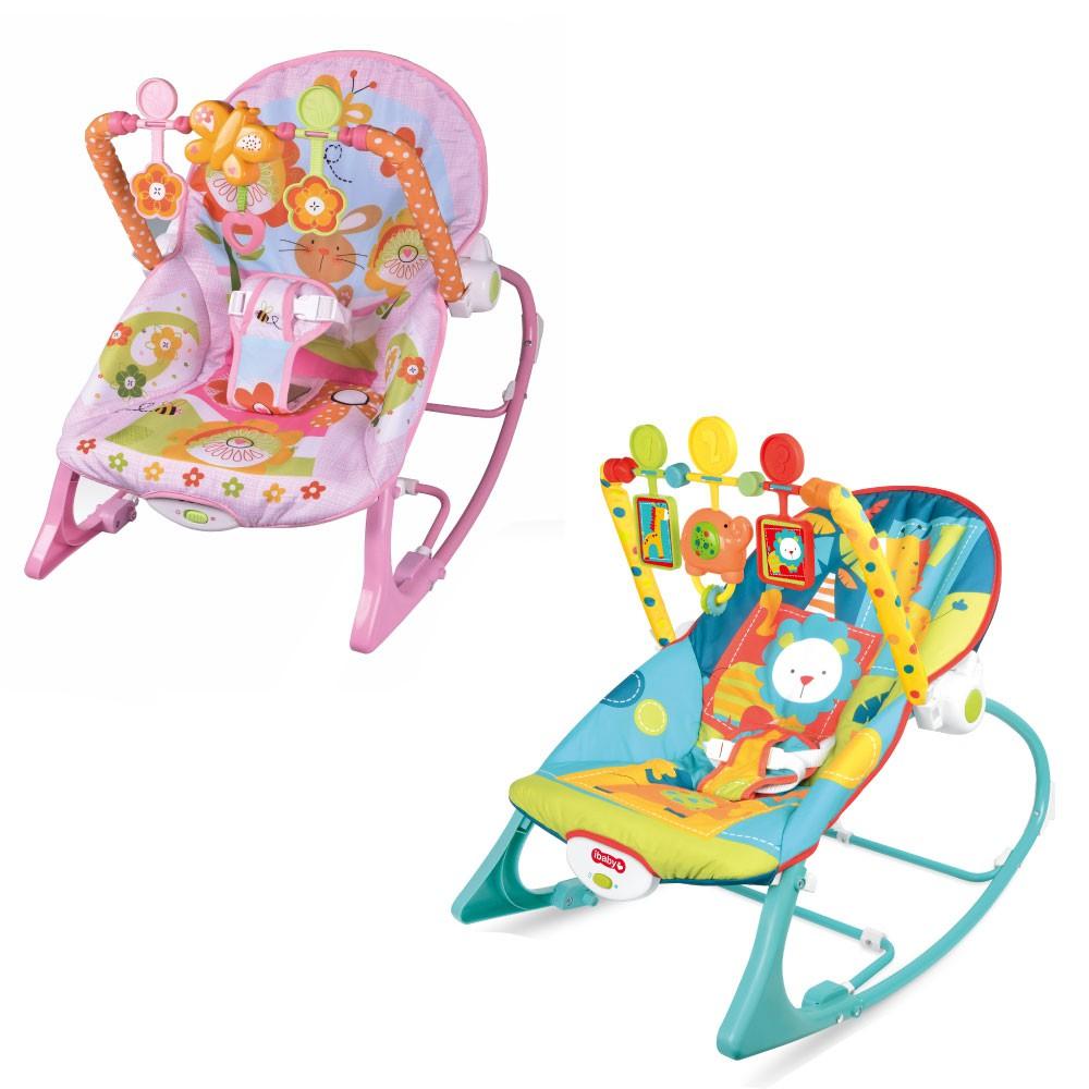 Cadeira de Descanso Bebe Acolchoado com Vibração som e Balanço