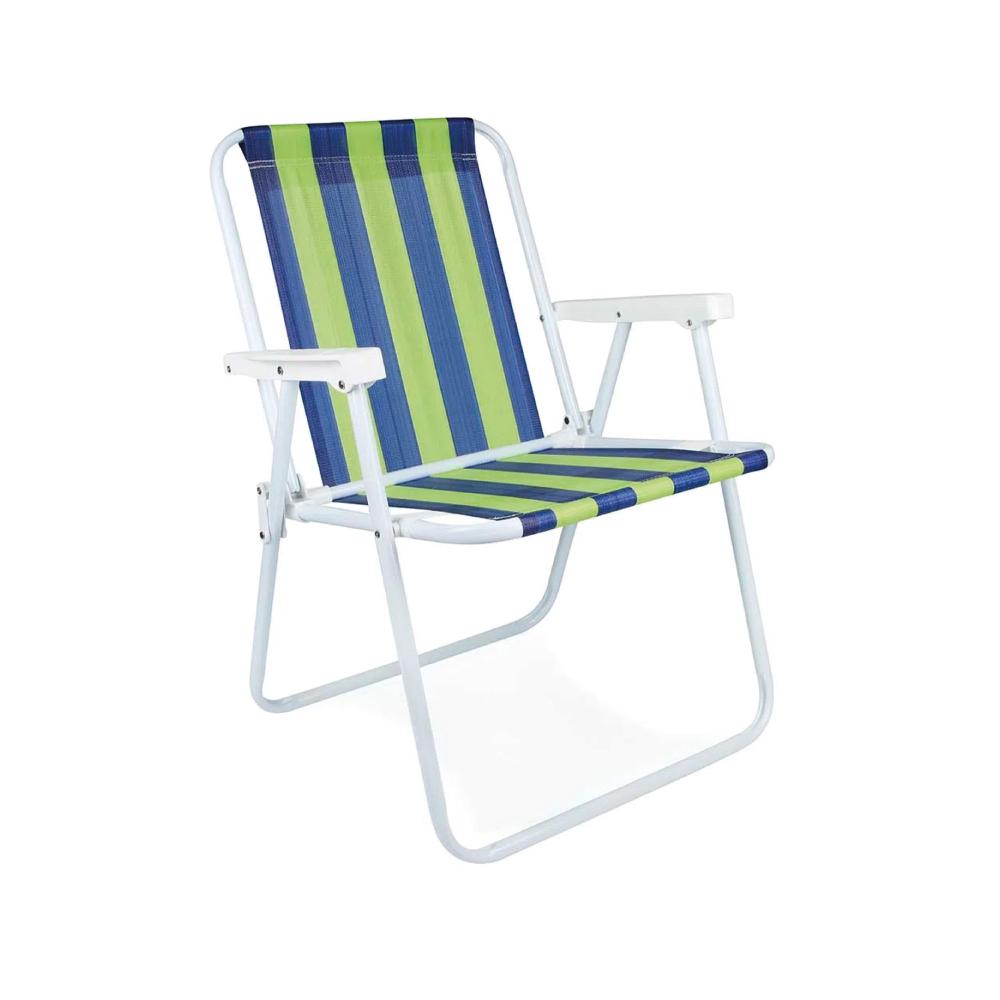 Cadeira de Praia Alta de Aço Dobrável Mor