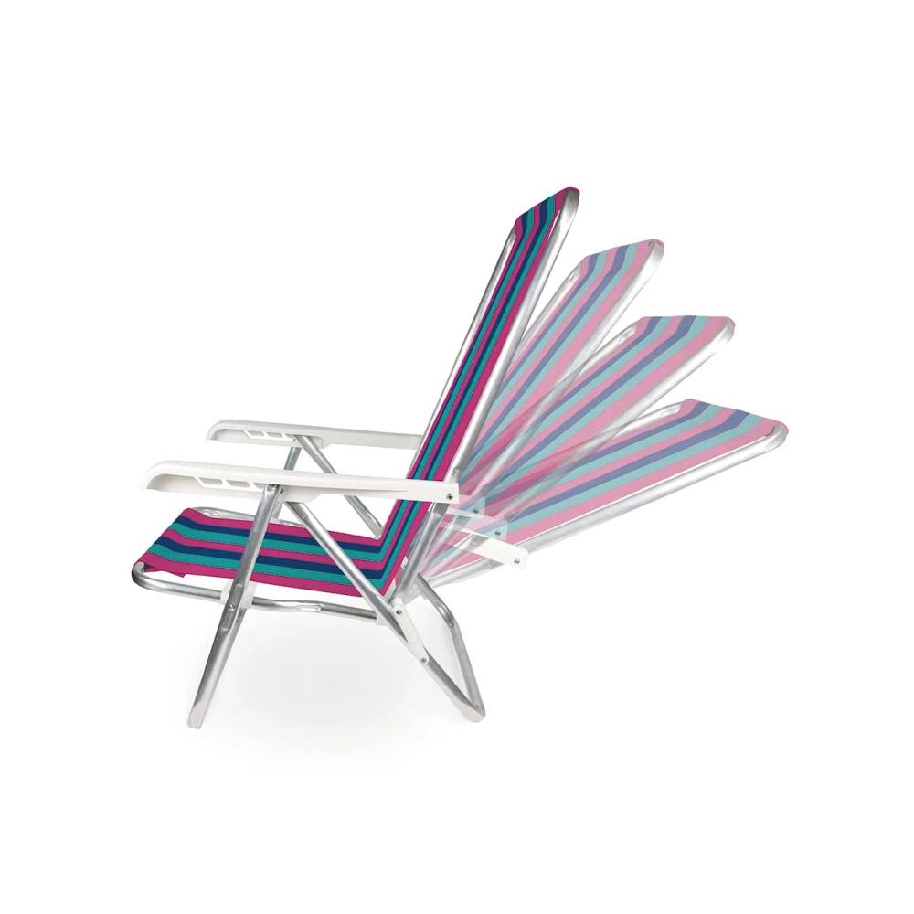 Cadeira Reclinável 4 Posições Alumínio Dobrável Mor