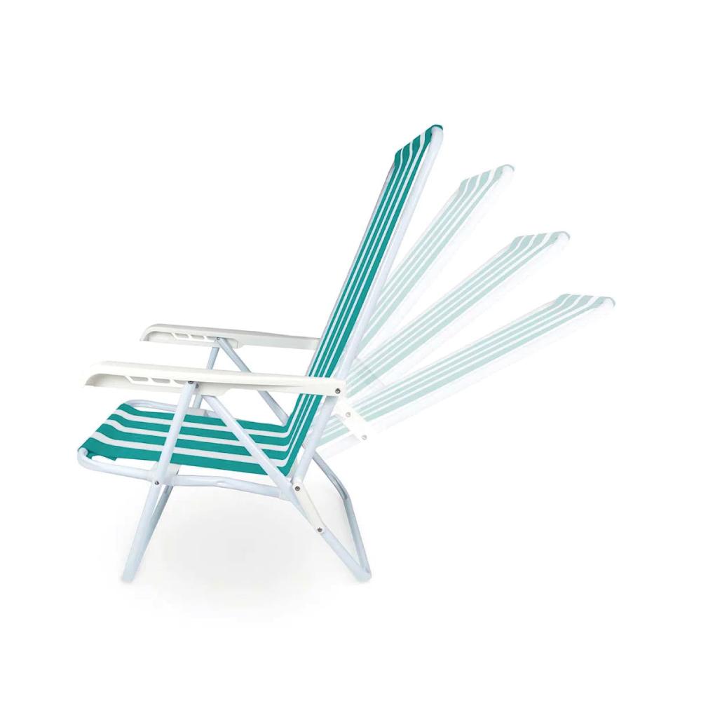 Cadeira Reclinável 4 Posições de Aço Dobrável Mor