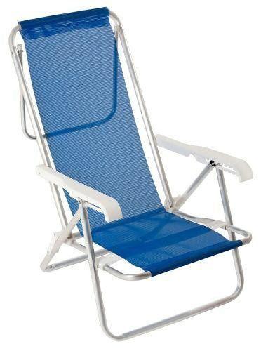 Cadeira Reclinavel de 8 Posições Alluminio - MOR