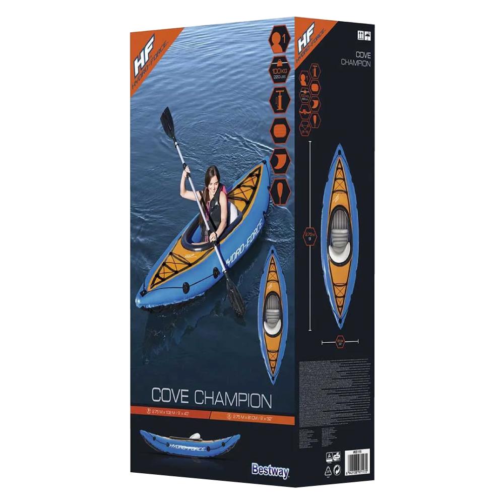Caiaque Inflável Cove Champion com Remo e Bomba de Ar Bestway