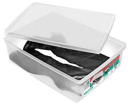 Caixa De Sapato Transparente Para Organizar Ordene - Botas