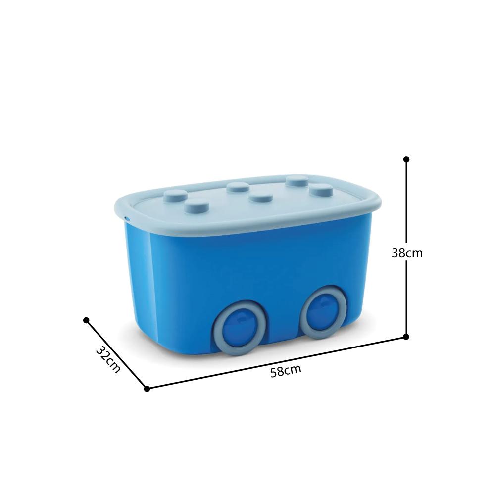Caixa organizadora 46 Litros Funny Box Curver Azul Keter