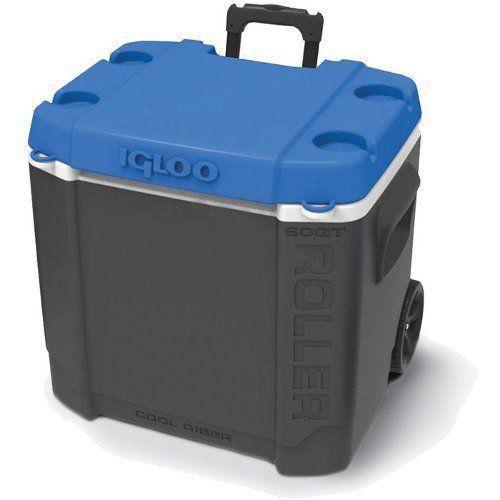 Caixa Térmica Cooler 56 Litros Igloo Com Rodas Até 90 Latas
