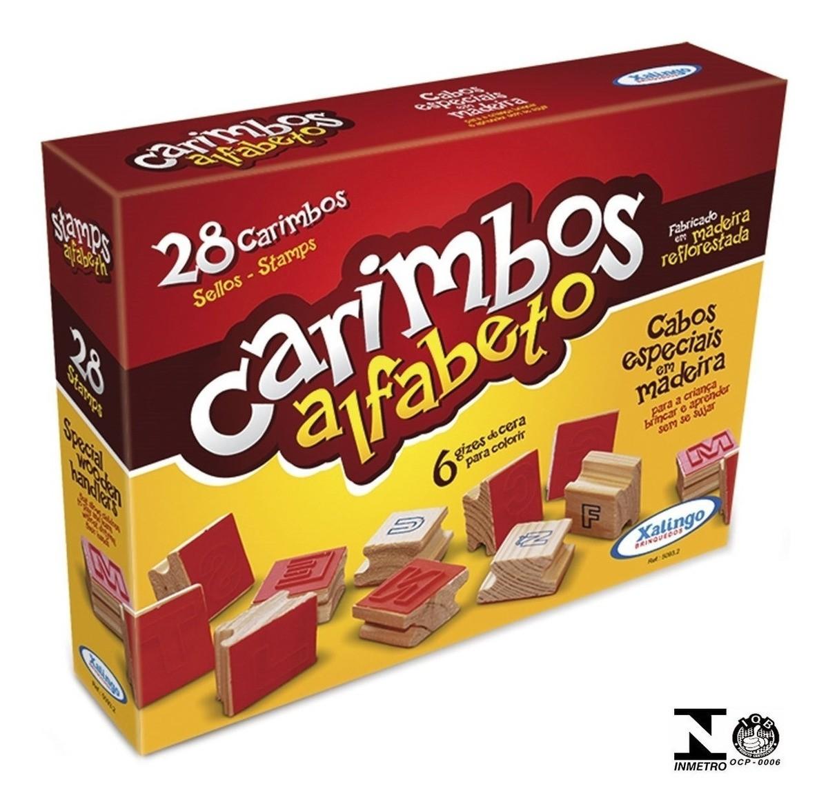 Carimbos Alfabeto 28 Pçs Madeira 50932 - Xalingo