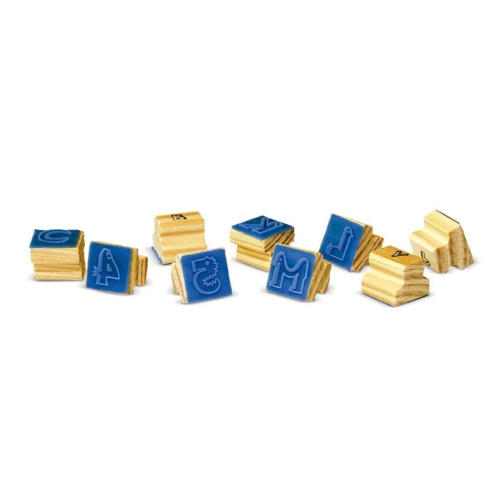 Carimbos Letras Alfabeto e Numero 40 Pçs Madeira - Xalingo