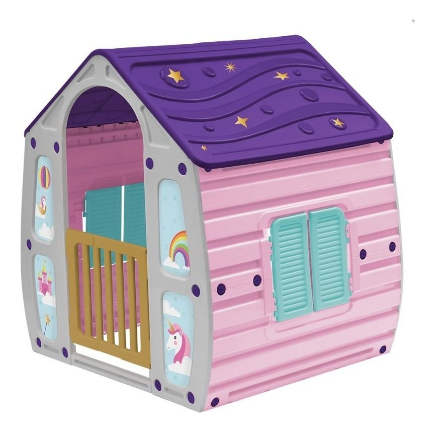 Casinha De Brinquedo Infantil Unicórnio Bel