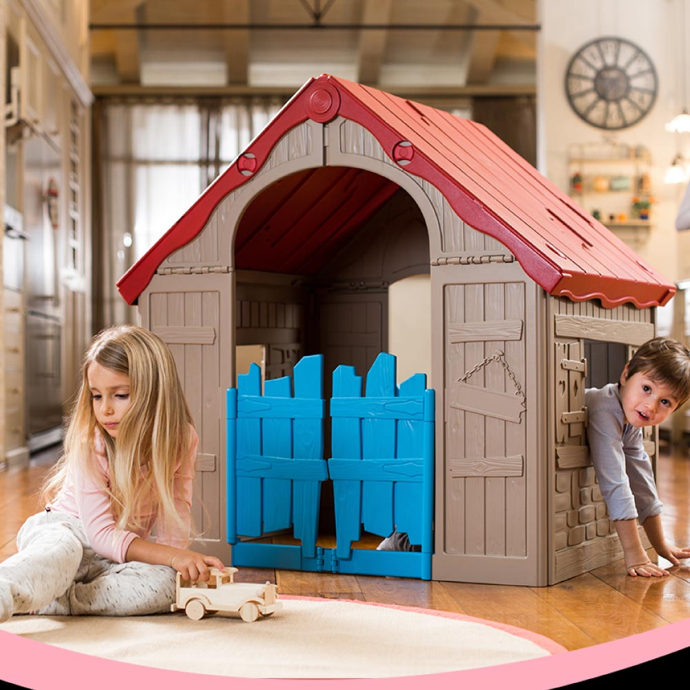 Casinha Infantil Dobrável Colorida Wonderfold Keter