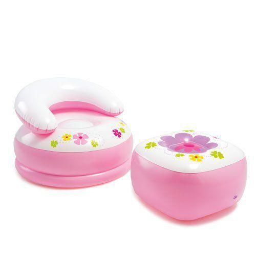 Casinha Inflável Princesas Infantil Rosa Intex 48635