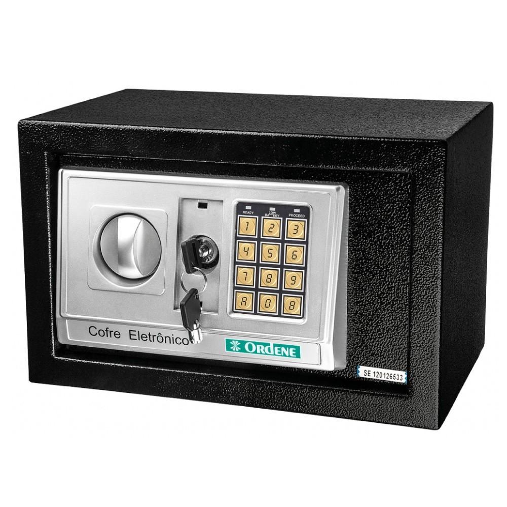 Cofre Eletrônico Digital em Aço Preto Ordene