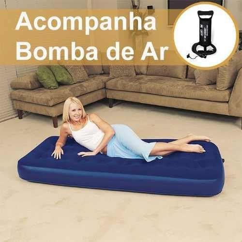 Colchão Solteiro Inflável Com Bomba De Ar - Bestway Camping
