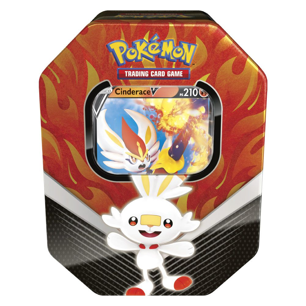 Coleção Cartas Pokemon Parceiros de Galar Lata com 25 Cartas
