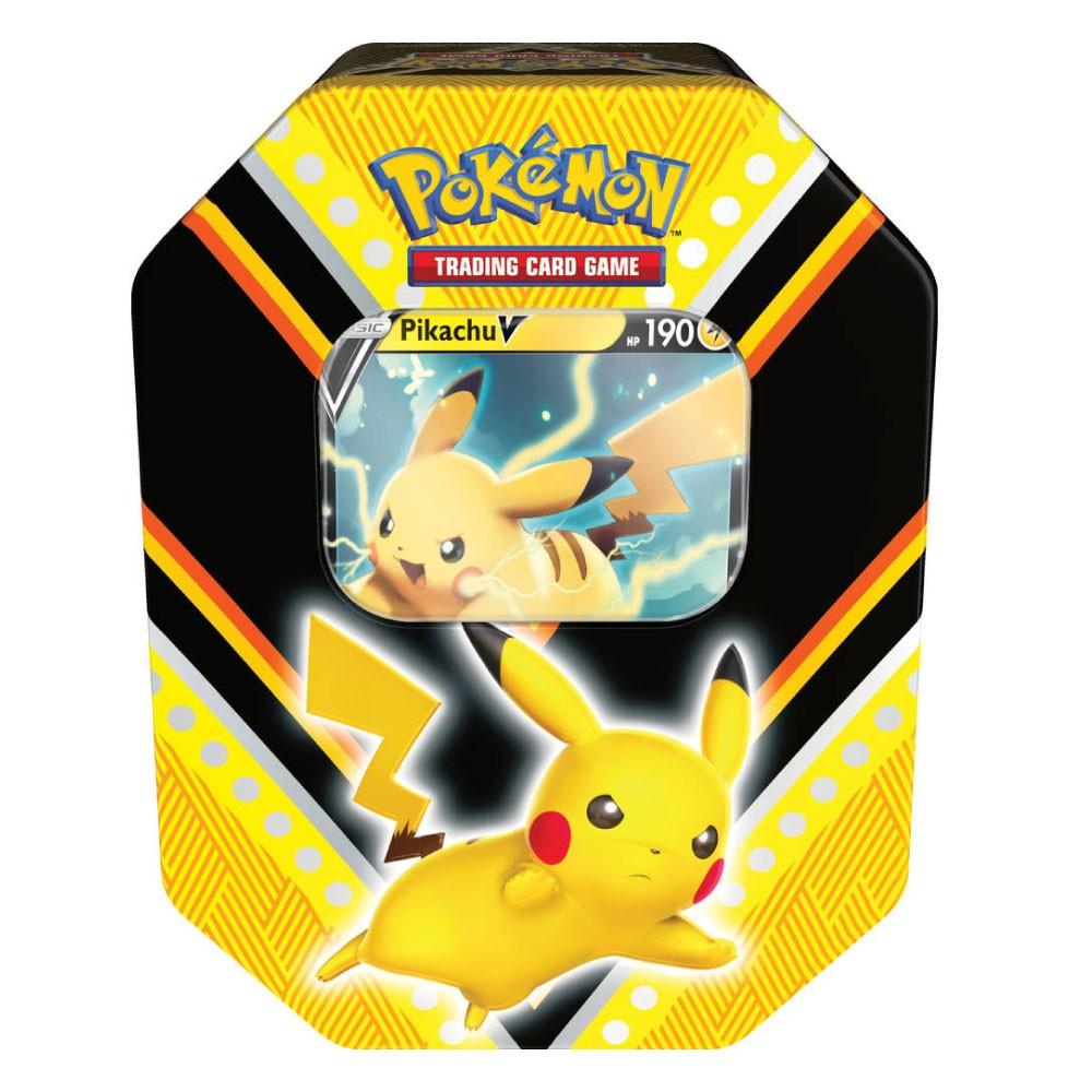 Coleção Cartas Pokemon Poderes V Lata com 25 Cartas