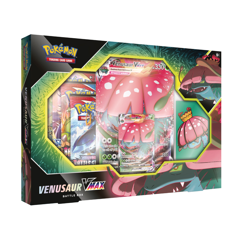 Coleção de Batalha Pokemon Box Venusaur Vmax 50 Cartas