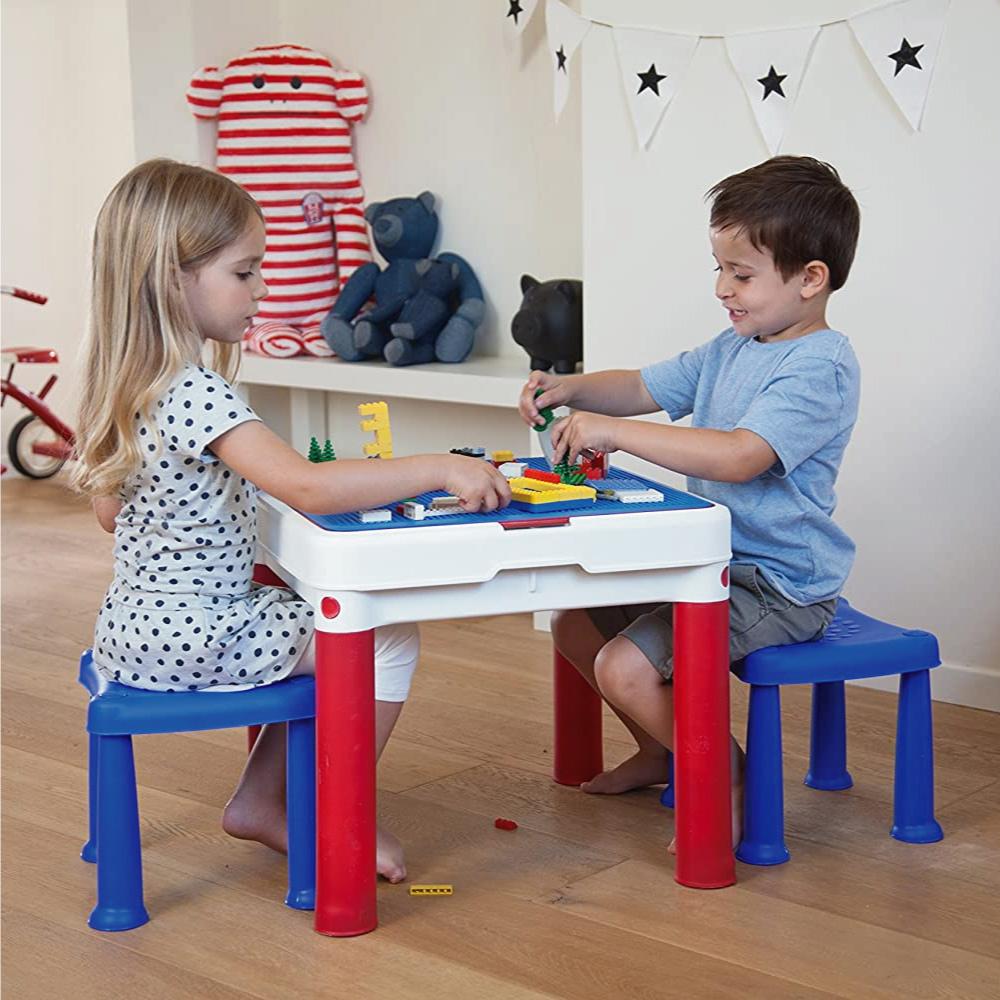 Conjunto de Mesa e Cadeiras Infantil Constru Kids Keter