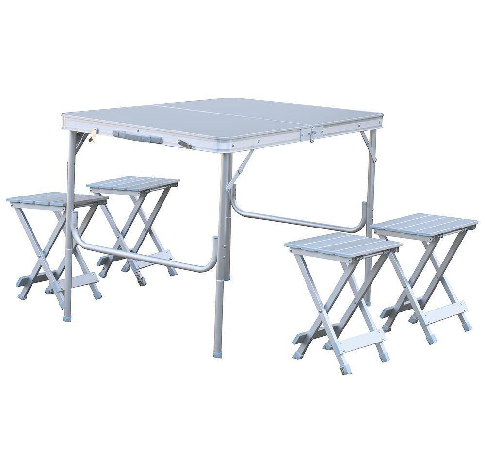 Conjunto Mesa e 4 Cadeiras Dobráveis Royal - Nautika