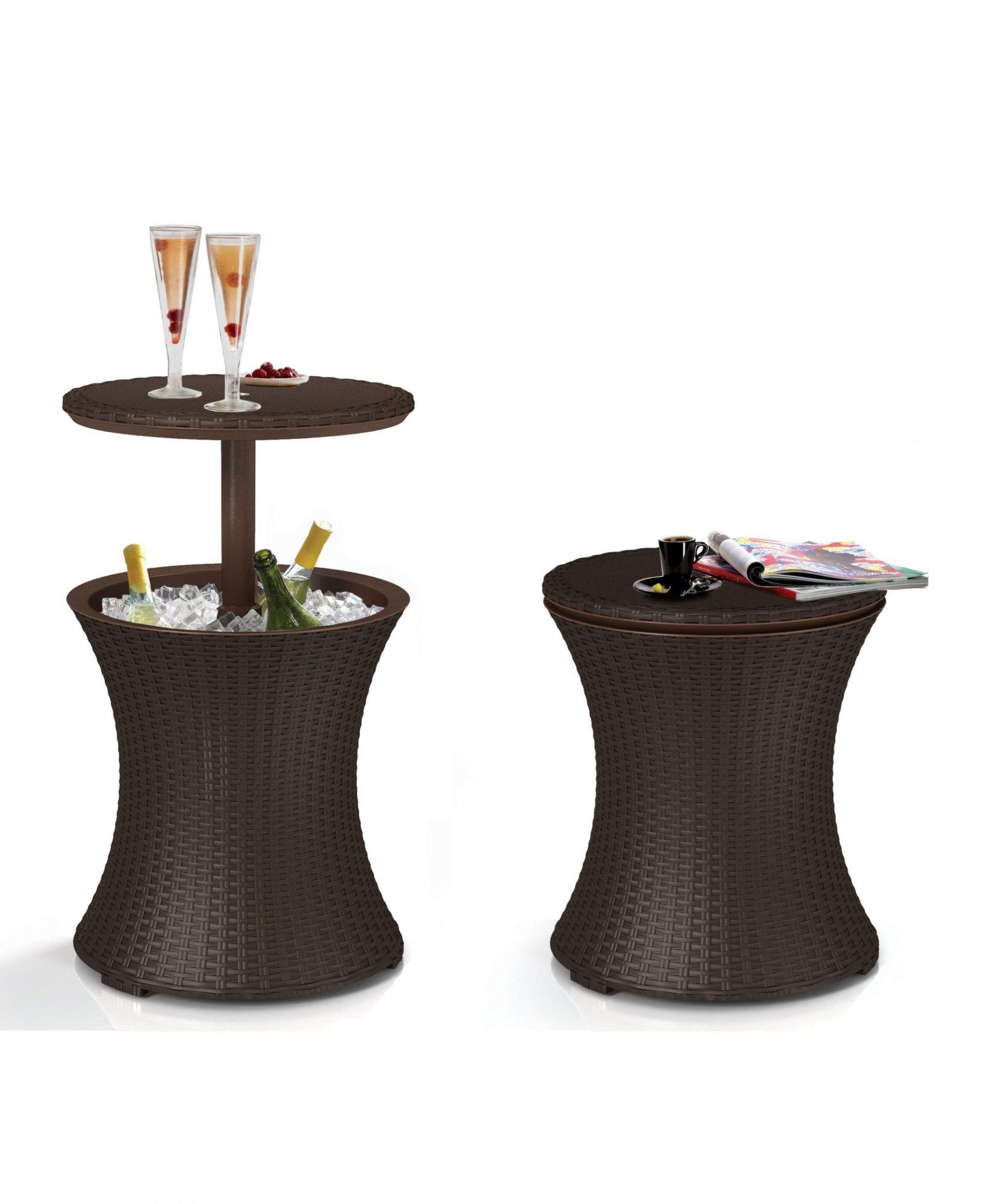 Cool Bar Rattan Mesinha Bar e Cooler 30 Litros Marrom Keter