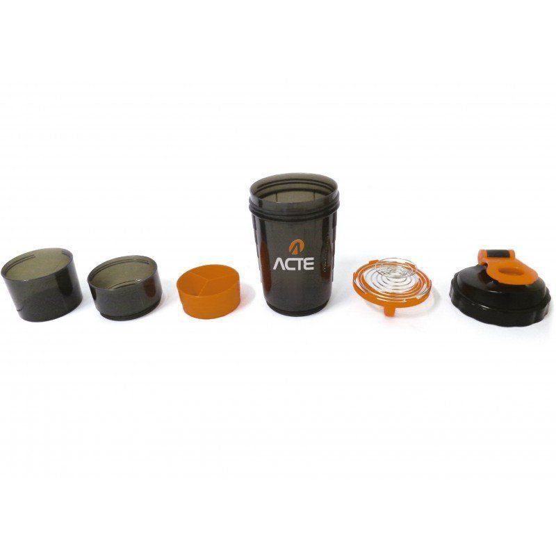 Coqueteleira Shaker 3 Em 1 Porta Suplementos 500 Ml - Acte