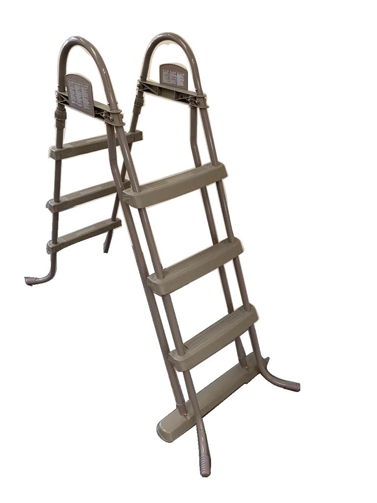 Escada Dupla 107 Cm Marrom Bestway Piscina Inflável E Estrutural