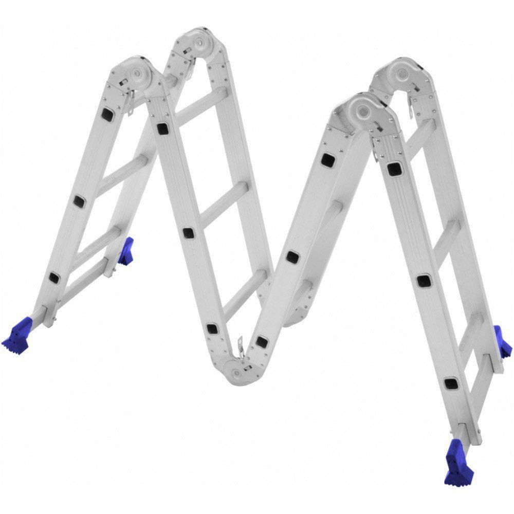 Escada Multifuncional 4x3 12 Degraus Aço - MOR