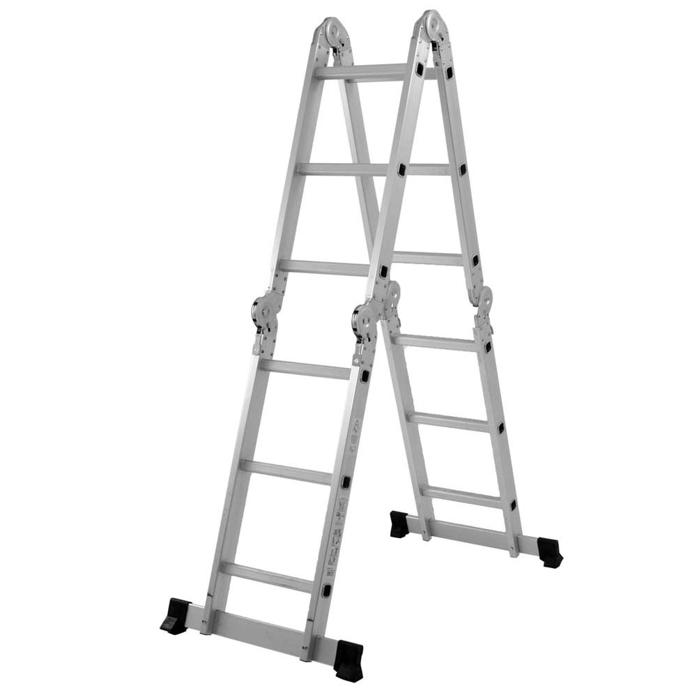 Escada Multifuncional 4x3 12 Degraus com Plataforma em Aço - MOR