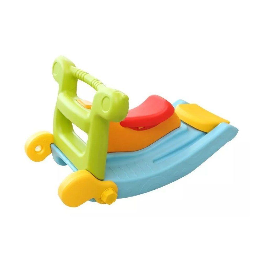 Escorregador 2 Degraus E Gangorra Infantil Brinquedo 2 Em 1 Importado