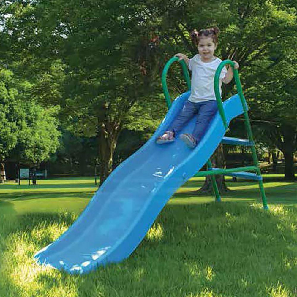 Escorregador Infantil Ondas Com 2 Degraus Entrada para Mangueira Azul Bel