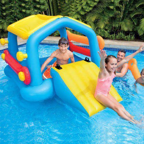 Escorregador Inflável Ilha Divertida infantil intex 58294