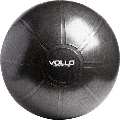 Gym Ball Design Vollo Tamanho 65cm Preta com Resistência de 350kg