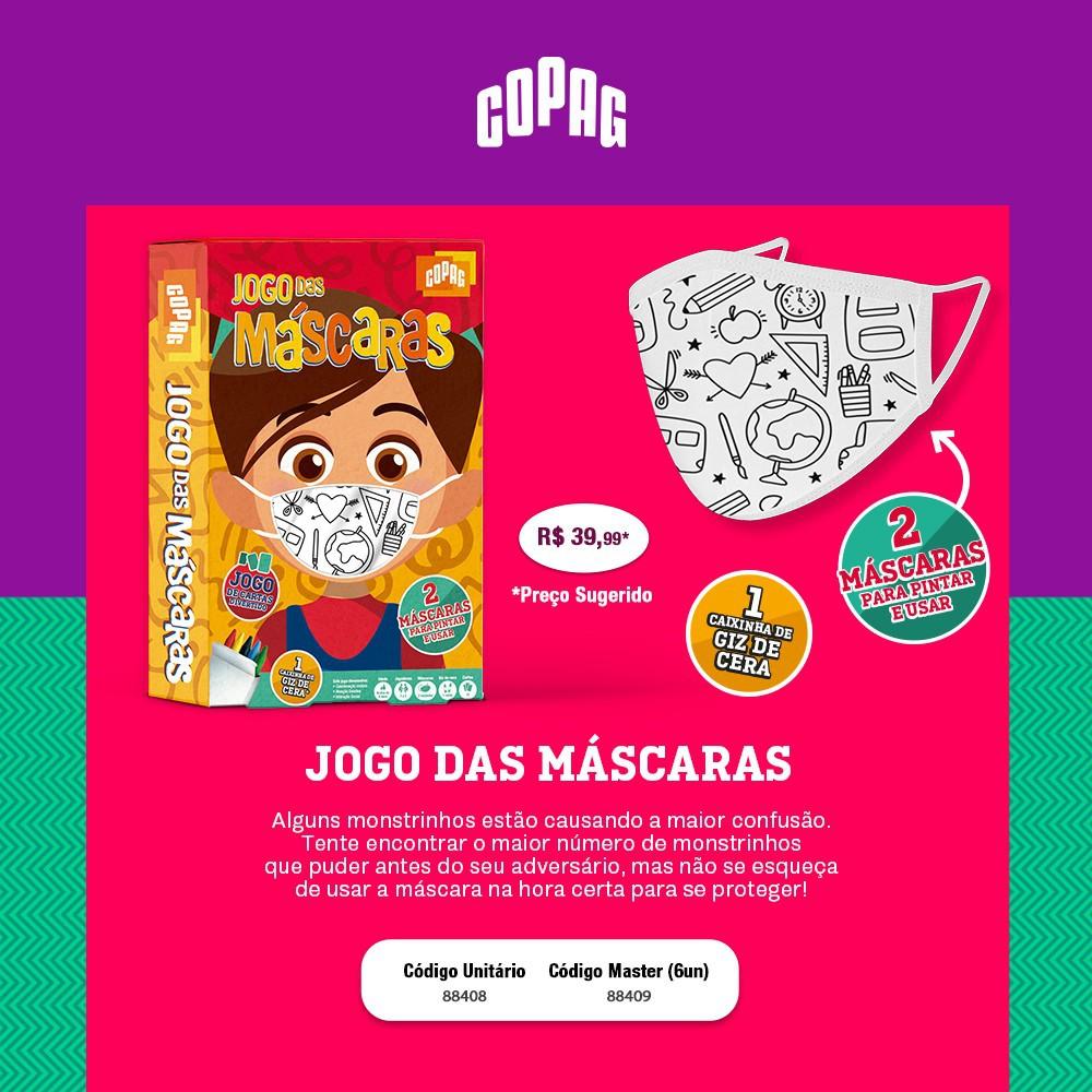 Jogo de Cartas Infantil Jogo das Mascaras Copag