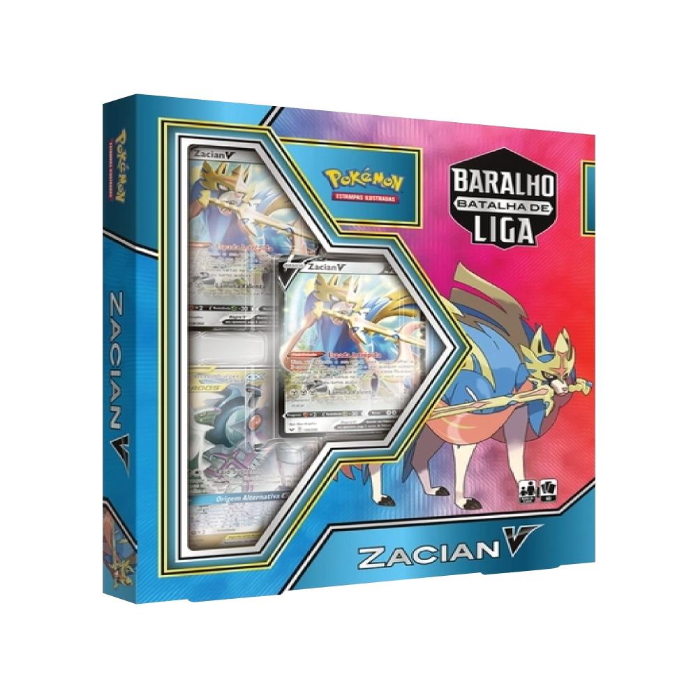 Jogo de Cartas Pokemon Baralho Batalha de Liga Zacian V