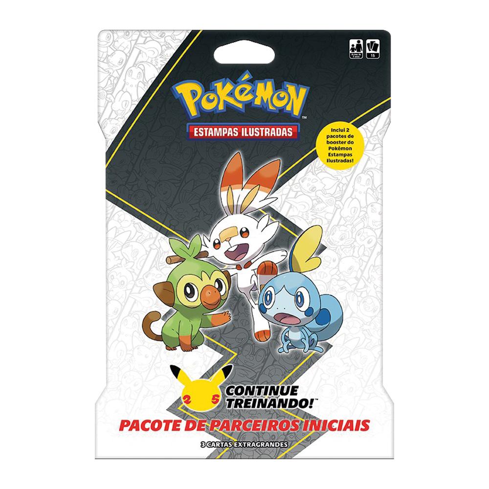 Jogo de Cartas Pokemon Blister Gigante Parceiros Iniciais 15 Cartas Galar