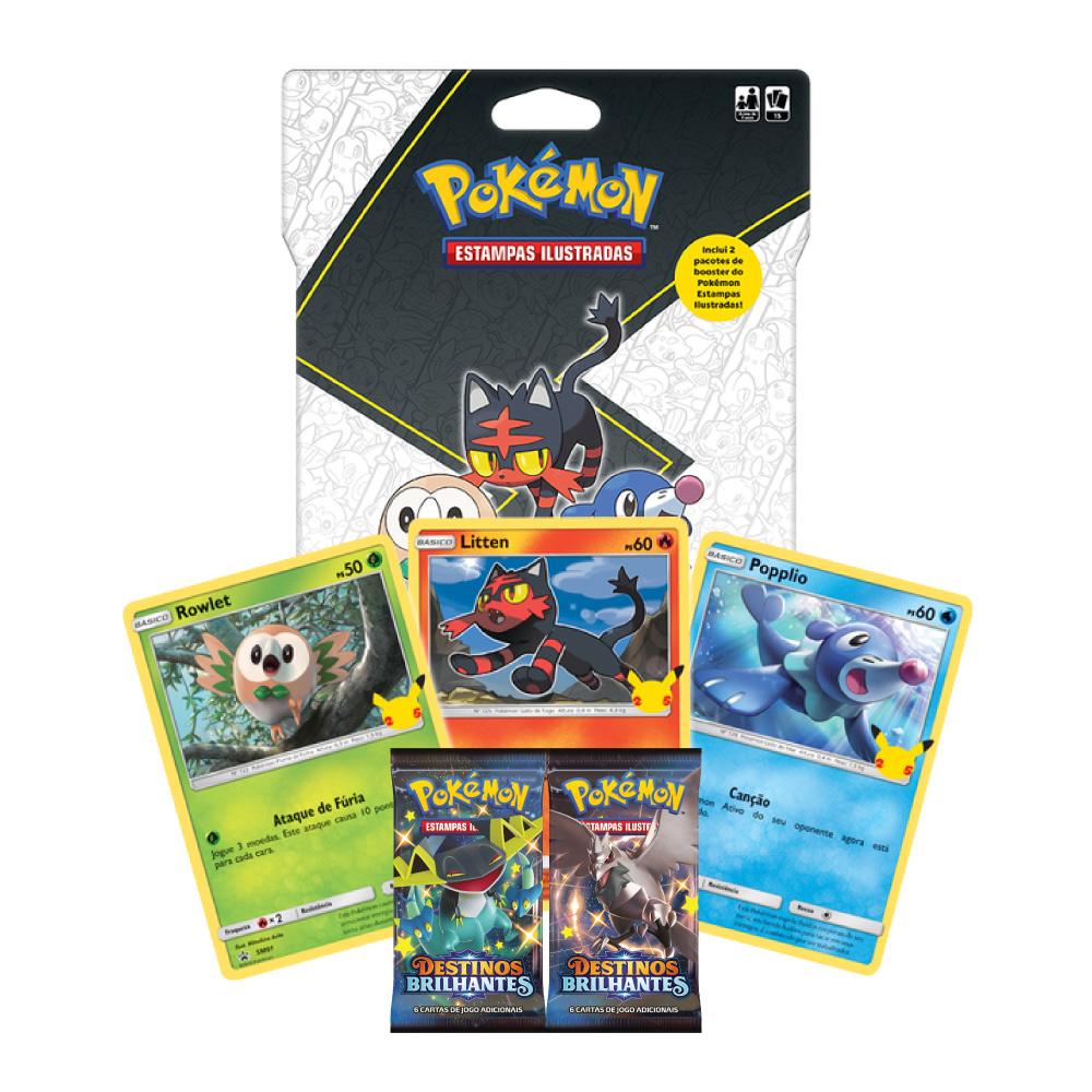 Jogo de Cartas Pokemon Blister Gigante Parceiros Iniciais 15 Cartas
