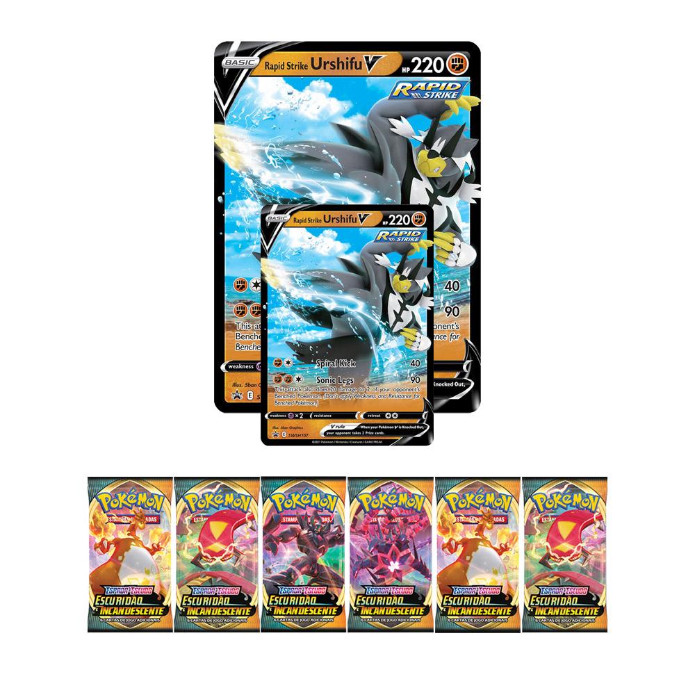 Jogo de Cartas Pokemon Box Urshifu V 39 Cartas