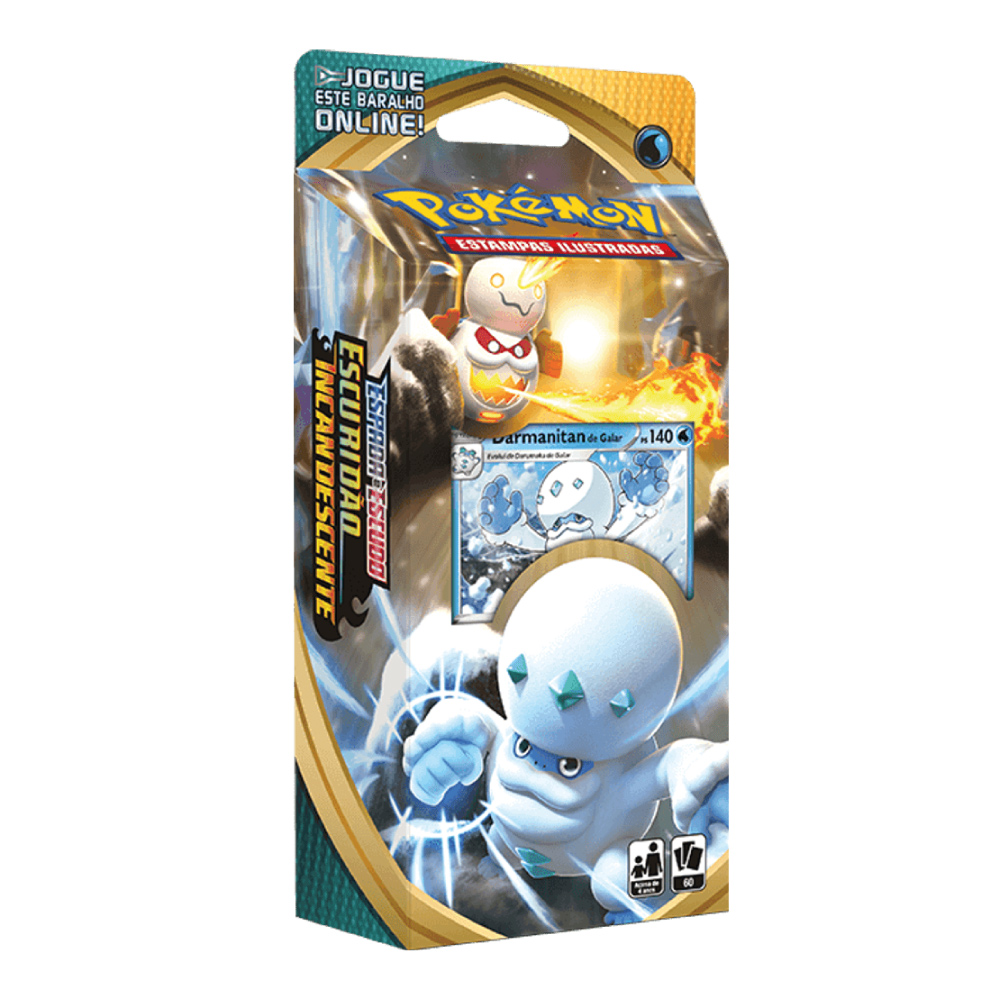 Jogo de Cartas Pokemon Starter Deck Escuridão Incandescente 60 Cartas