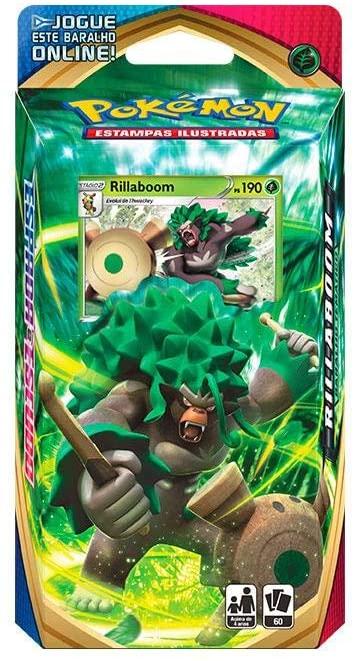 Jogo de Cartas Pokemon Starter Deck Espada e Escudo 60 cartas Rillaboom