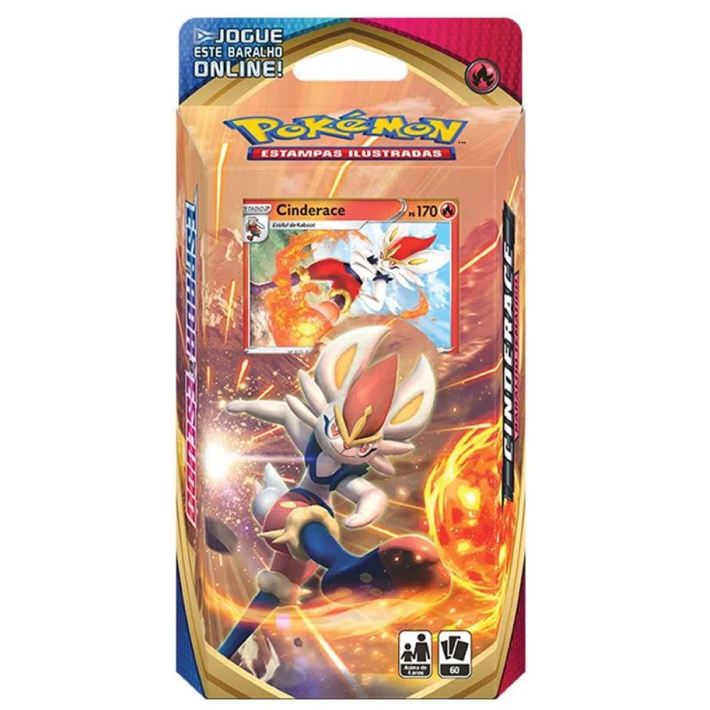Jogo de Cartas Pokemon Starter Deck Espada e Escudo 60 Cartas Cinderace