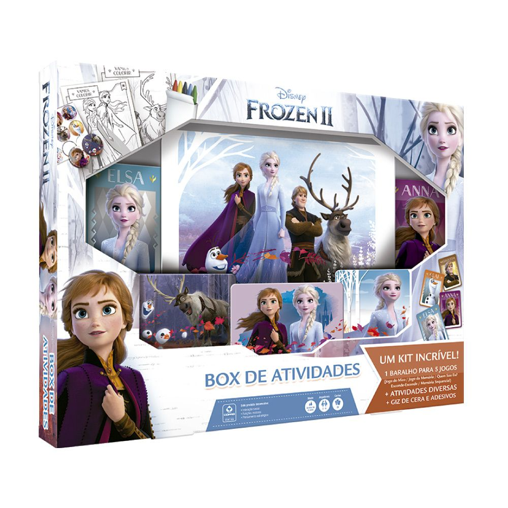 Jogo Infantil Box de Atividades Frozen 2 - 90698 - Copag