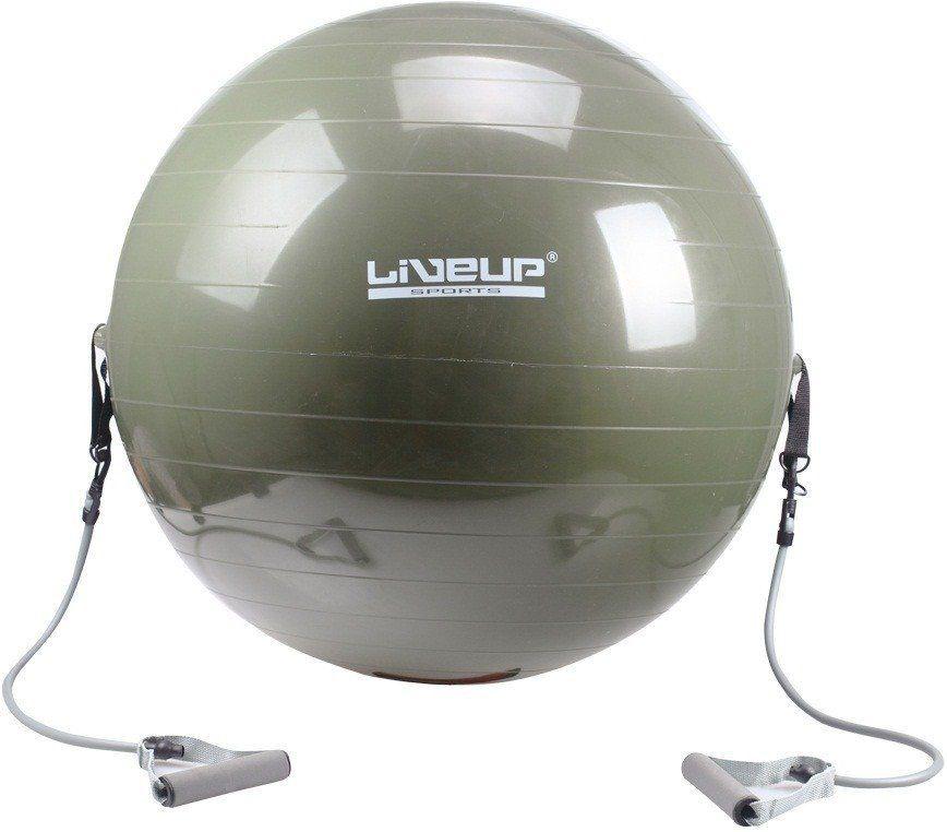 Kit Funcional Bola Suíça Com Extensores + Corda de Pular Contador Digital - Liveup