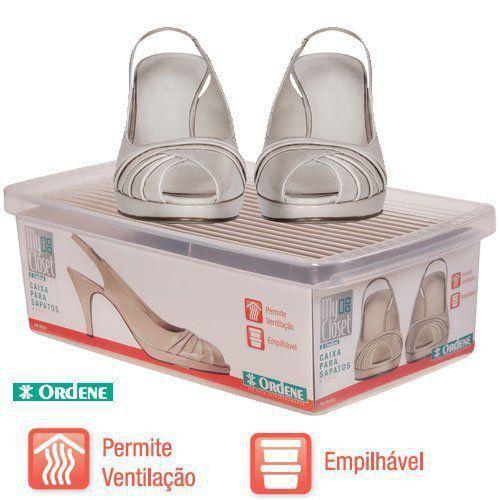 Kit Caixa De Sapato Transparente Para Organizar 3 Unidades P M G Ordene