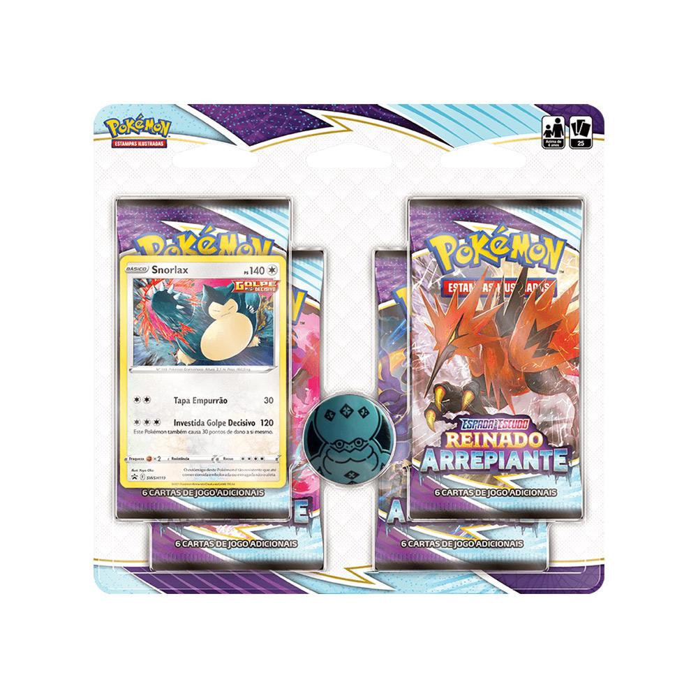 Kit Cartas Pokémon Blister Quadruplo 4 Pacotes + 1 Carta Snorlax
