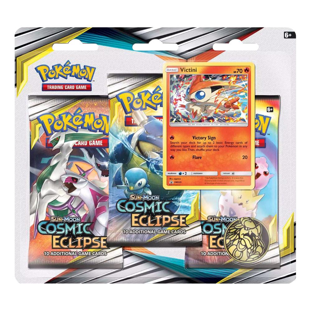 Kit Cartas Pokémon Blister Triplo 3 Pacotes + 1 Carta Victini