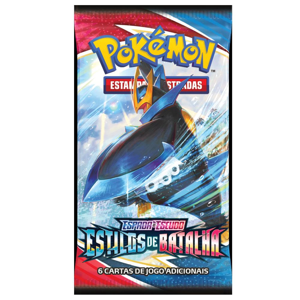 Kit Cartas Pokémon Booster com 10 Pacotes 60 Cartas - Estilos de Batalha