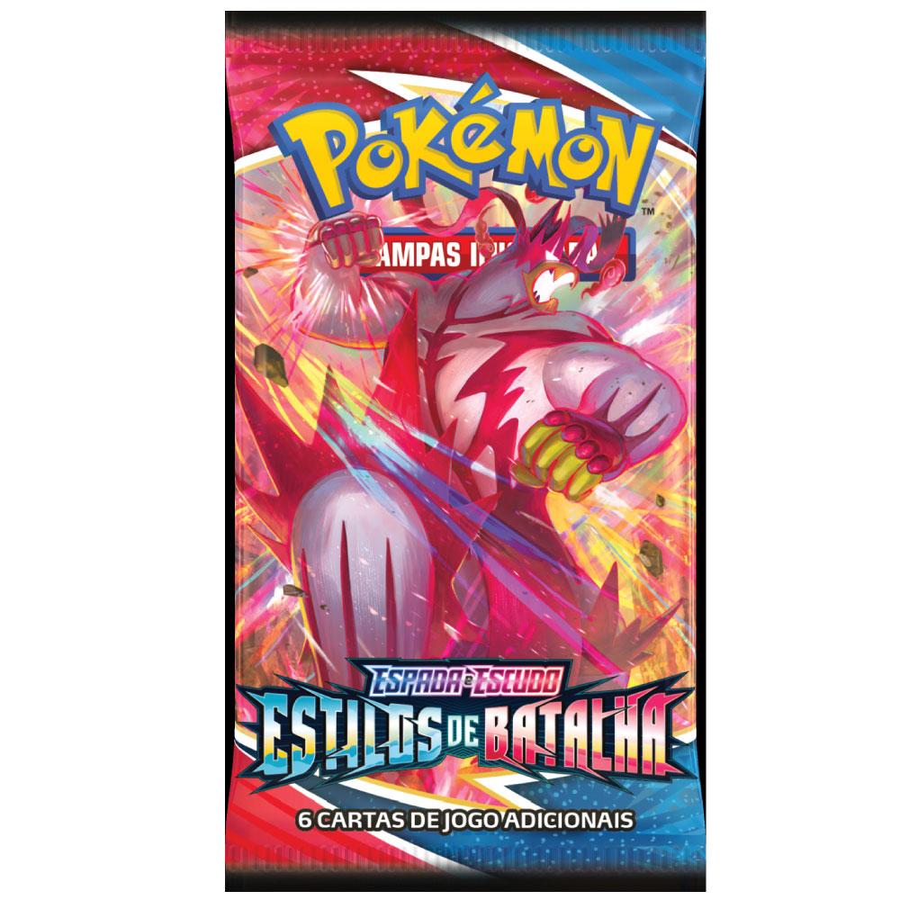 Kit Cartas Pokémon Booster com 6 Pacotes 36 Cartas - Estilos de Batalha