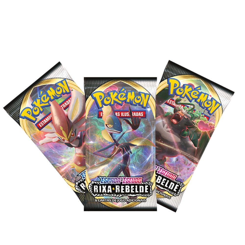Kit Cartas Pokémon EE2 Blister Triplo 3 Pacotes + 1 Mantine- Rixa Rebelde