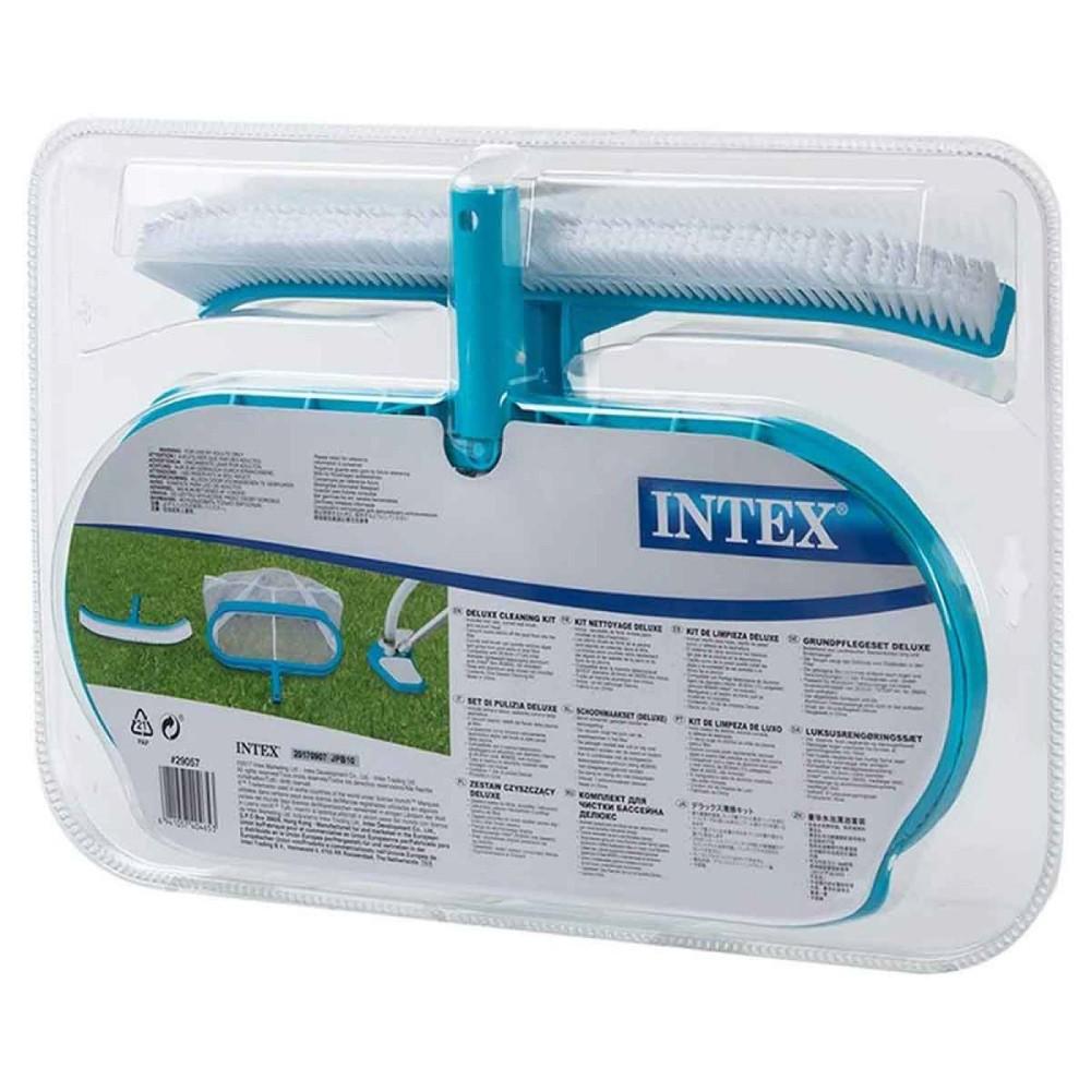 Kit de Limpeza e Manutenção com Aspirador Peneira e Escova Intex